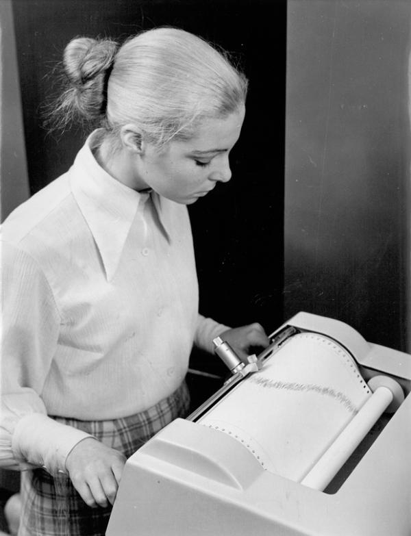 Thea as a computer operator at CSIRO