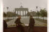 Bernadette and me in front of the Brandenburg Gate on East German side (This is the front of it).