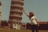 Thea's attempt to hold up the leaning tower of Pisa, Italy