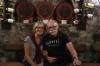 Bruce and Thea at Zlatý Strapec winery, Viničky SK