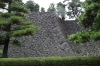 Original foundations of or the Shogun castle in the Imperial Palace, East Garden, Tokyo, Japan