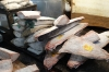 Frozen tuna, Tsukiji Market, wholesale market specialising in fish, Tokyo, Japan