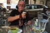 Bruce enjoying a craft beer in Toledo ES