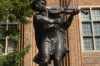 Legendary 'Iwo the raiser' plays violin to herd frogs away from the city, Toruń PL