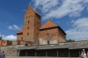 The outer fortification of Trakai Island Castle on Galve Lake, LT