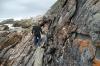 Bruce on the rocks. Waterfall Walk, Tsitsikamma National Park, South Afric