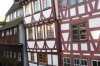 Quaint half-timber houses on Grosse Blau in Ulm