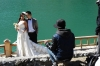 Bridal photography. The Grand Canyon of Urumqi