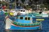 Colourful boats on Kalkara Creek MT