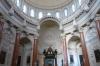 Oval dome in the Our Lady of Mt Carmel church, Valletta, Malta