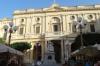 Queen Victoria and the National Library of Malta in Republic Square, Valletta MT