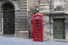 Red telephone box in Merchant's Street, Valletta, Malta