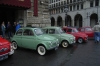 Fiats  (Cinque Cento) on display outside the city hall.  Amazing how small they are! Vienna AT