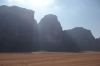 Wadi Rum - the Beduoin camp, the track back to the village