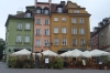 Coloured houses in the Old Town of Warsaw PL.