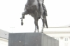 Bertel Thorvaldsen's equestrian statue of Prince Józef Poniatowski before the Presidential Palace on Krakowskie Przedmieście, Warsaw PL.