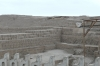 Huaca Pucllana, great adobe and clay pyramid, Miraflores, Lima PE