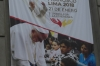 The Pope is visiting Lima. Church of the Miraculous Virgin, Lima PE