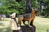 Chainsaw wood carvings in Hope