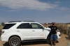 Bruce and our 4WD for our Namibia adventure