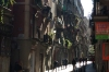 Narrow streets of El Raval district of Barcelona ES