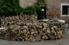 Firewood stacked for the coming winter, Reszel Castle PL