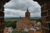The Church of Sts Peter and Paul from the tower of Reszel Castle PL
