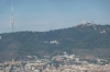 Tibidabo and the communications tower from Montjuïc