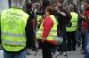 Demonstrators in Passeig de Gràcia