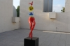 Joan Miro Exhibition, sculptures on the roof