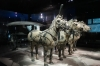 Half size replicas of the bronze horse and carriages, Terracotta warriors of Emperor Qin, Xi'an CN