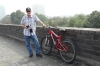 Bruce & his bike, 14.5km bike ride around the ancient city wall of Xi'an CN