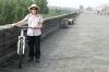 Thea & her bike, 14.5km bike ride around the ancient city wall of Xi'an CN