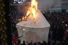 Burning Imam Hussain's tent. Remembrance of Muharram, Day of Ashura in Taft