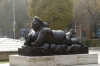 The smoking lady by Fernando Botero. The Cascades and parkland, Yerevan