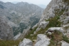 Ski resort in the Durmitor national park near Žabljak.  Cable used to climb up/down the cliff