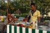 Setting up food stalls in the Forodhani Park, Zanzibar, Tanzania