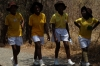 School children near Point No 4, Victoria Falls, Zimbabwe
