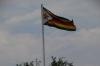 Zimbabwe flag at the Victoria Falls Hotel, Zimbabwe
